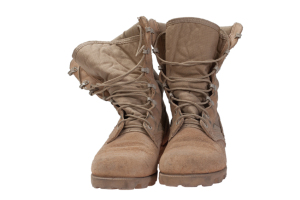 Old Used Boots Iraq War