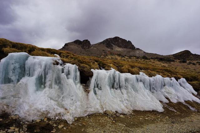 Colca Canyon ice